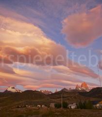 Sonnenaufgang in El Chaltén, Argentinien
