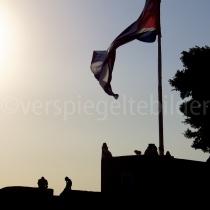 Castell in de Abendsonne bei Havanna auf Kuba
