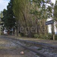 Verlassener Bahnhof Nirihuau bei Barliloche in Patagonien