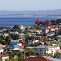 Blick über Punto Arenas in Patagonien