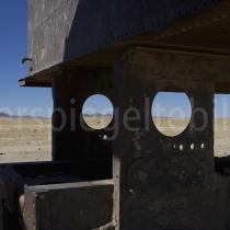 Eisebnahnfriedhof bei Uyuni in Bolivien