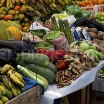 Markt in Ollantytambo in Peru