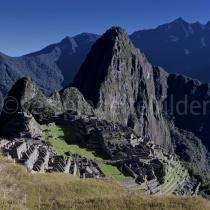 Sonnenaufgang in der Inkastadt Machu Picchu