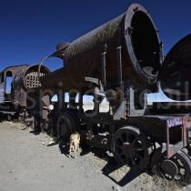 Eisenbahnfriedhof bei Uyuni in Bolivien