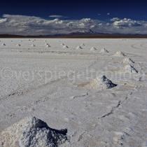 Salzhaufen auf dem Salzsee Uyuni