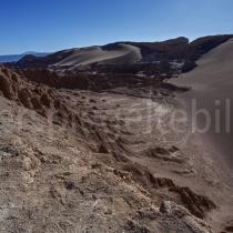 Blick ins Valle de la Luna in der Atacama-Wüste