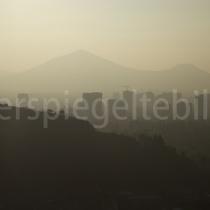 Blick über das Abendliche Santiago de Chile