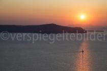 Sonnenuntergang bei Fira