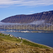 Blick auf Ísafjörður, Island