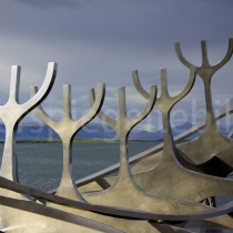 Wikingerdenkmal in Reykjavík, Island