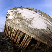Schiffswrack bei Tromsø