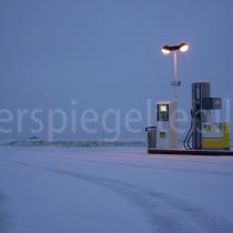Tankstelle beim Hochland-Gästehaus Hrauneyjar, Island