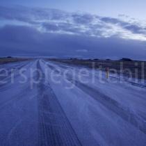 Strasse bei Vík í Mýrdal, Island