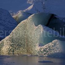 Eisgebildet im Jökulsárlón-See, Island