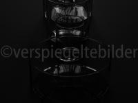 unterbelichtete Gläser in einer Reihe