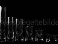 unterbelichtete Gläser mit Lichtreflexionen