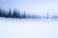 verwischte Landschaft durch vertikale Kamerabewegung