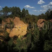 Blick auf den Ockersteinbruch von Roussillon