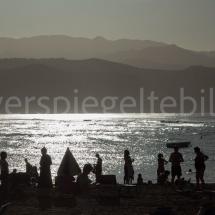 Abendstimmung am Stadtstrand von Las Palmas auf Gran Canaria