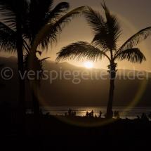 Sonnenuntergang am Stadtstrand von Las Palmas auf Gran Canaria