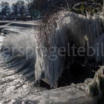 Vereiste Uferpromenade am Bodensee